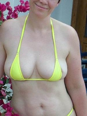 sexy mature bikini stripped
