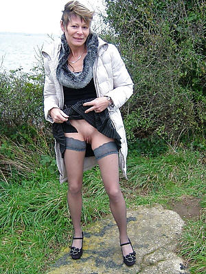 gorgeous mature upskirt no panties