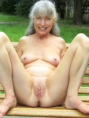 overt 60 year old women displaying their way pussy
