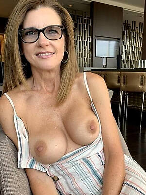 hot sexy superannuated mature in glasses