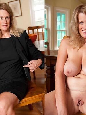 mature dressed undressed pics