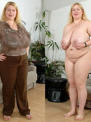 naked pics of mature dressed undressed
