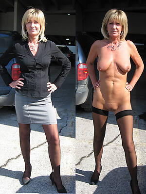 off colour wives dressed hatless posing nude