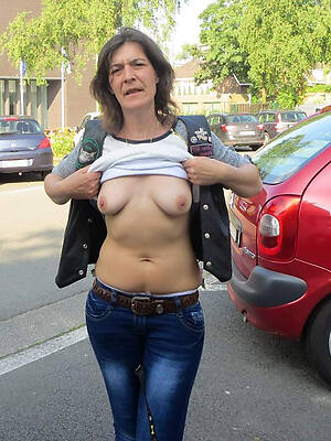 sexy mature in penurious jeans see thru
