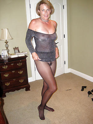 gorgeous full-grown women connected with nylons