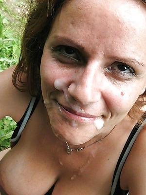 curvy mature homemade facial pics