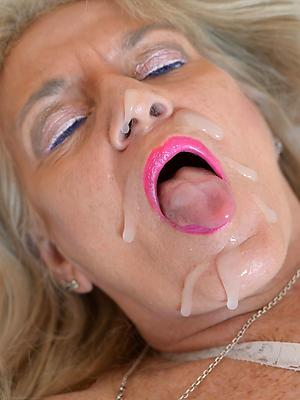 crazy mature milf facial nude photos