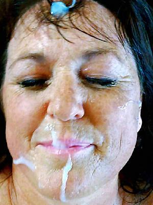 whorish mature women facials porn pics