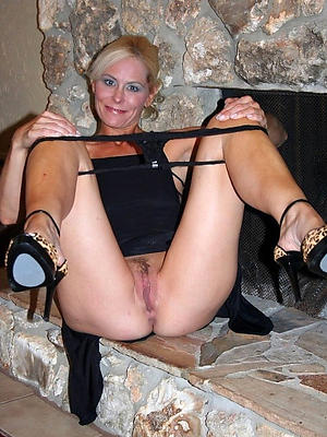 curious mature less heels starkers photo