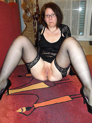 full-grown milf nylons stripped