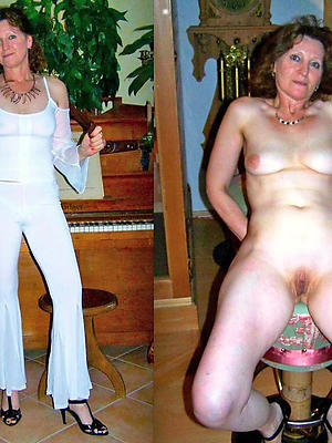 super-sexy mature dressed vs undressed