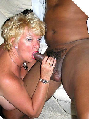 full-grown interracial milf stripped