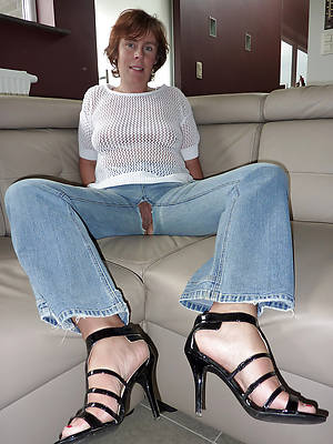 slutty of age women in tight jeans