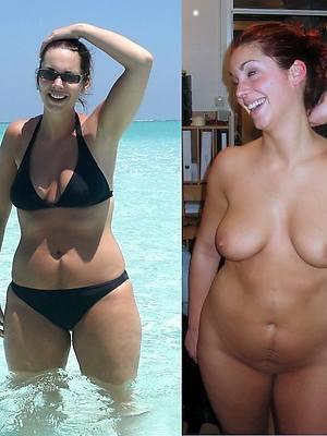 mature dressed vs undressed dirty sex pics