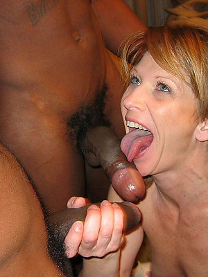 curious interracial mature fit together