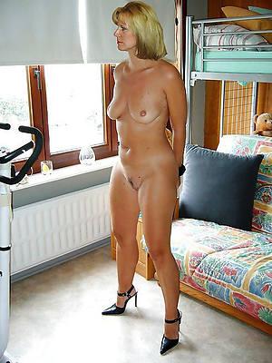 naught glum mature women in stockings and heels