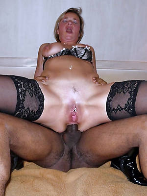 slutty full-grown white women black cock