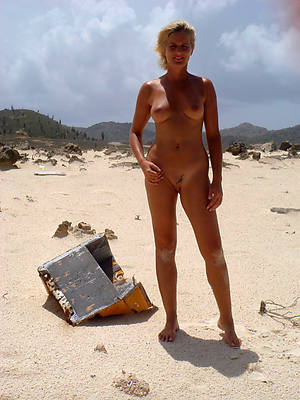 hot naked mature on beach