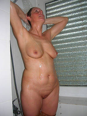 real mature in shower posing nude