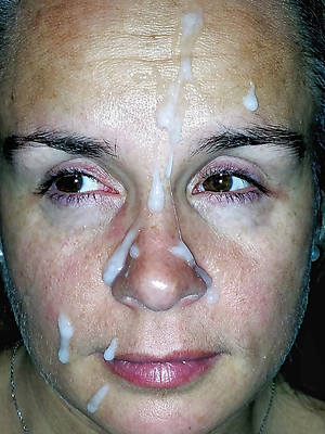 mature facials compilation and old pussy