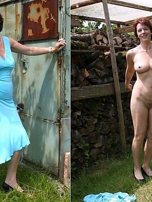 mature dressed undressed big pussies