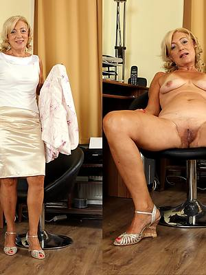 curvy milf dressed and undressed porn pics