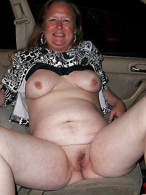 bare-ass ladies over 50 shows pussy