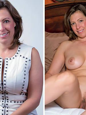 ladies dressed plus undressed pictures