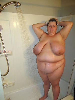 naked grown up women in rub-down the shower dirty sex pics