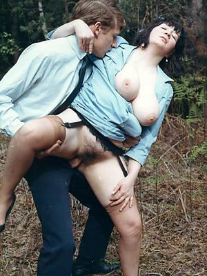 naked vintage mature tits