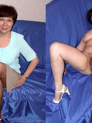 mature latitudinarian dressed and undressed porno pictures