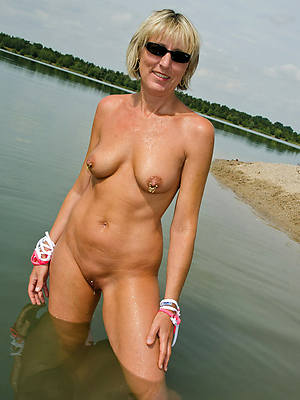free amature mature on beach photo