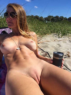 horny mature on beach