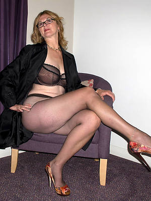 beautiful despondent mature women in nylons