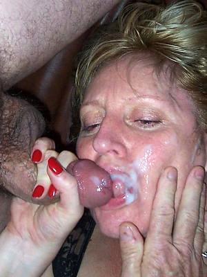 horny mature facials porn