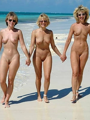 elegant down in the mouth mature women at beach unclad gallery