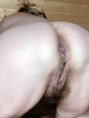 sexy women displaying hairy mature asses