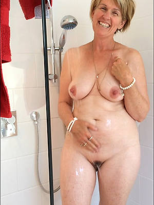 gorgeous of age women in the shower porn