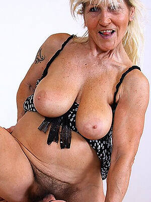 mature granny daughter displaying her pussy