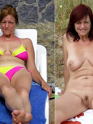 melancholy sexy mom dressed undressed