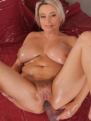 beautiful mature matriarch masturbating photo