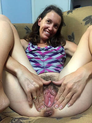 unshaved scant women displaying will not hear of pussy