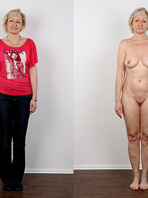 xxx pics of milf dressed undressed