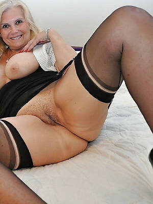 real pics of mature in black stockings