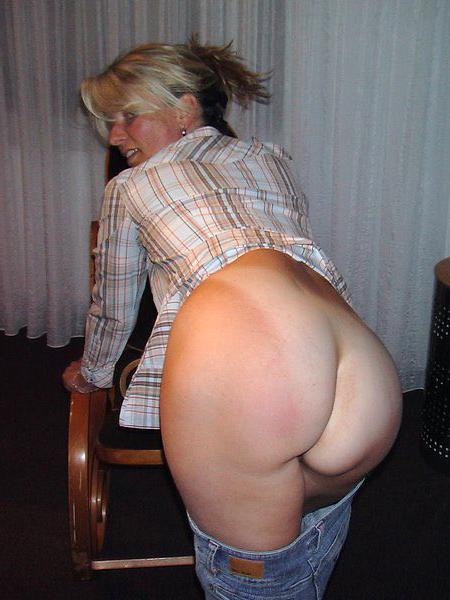 Mature showing ass